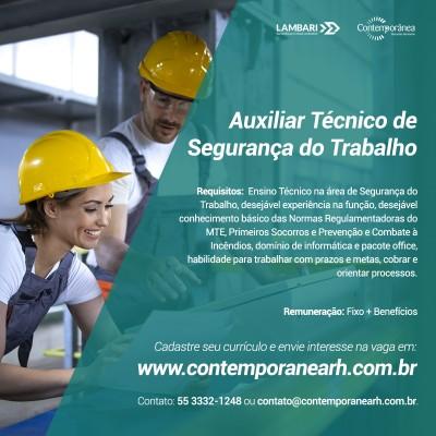Auxiliar Técnico de Segurança do Trabalho