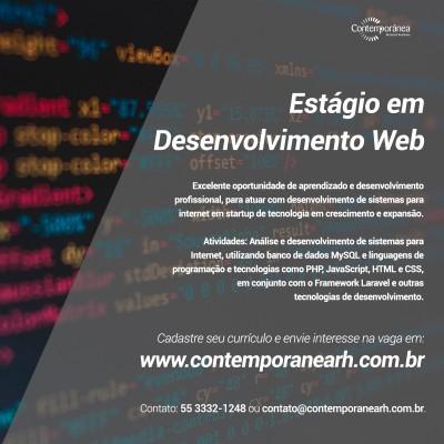Estágio em Desenvolvimento Web