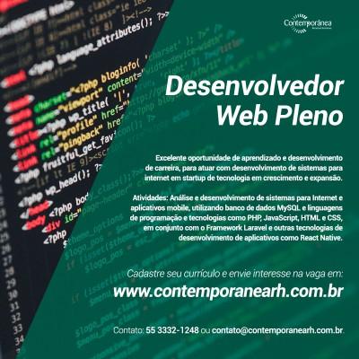 Desenvolvedor Web Pleno