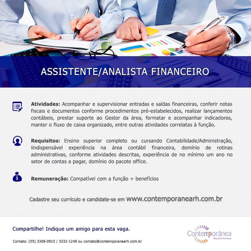 Assistente/Analista Financeiro