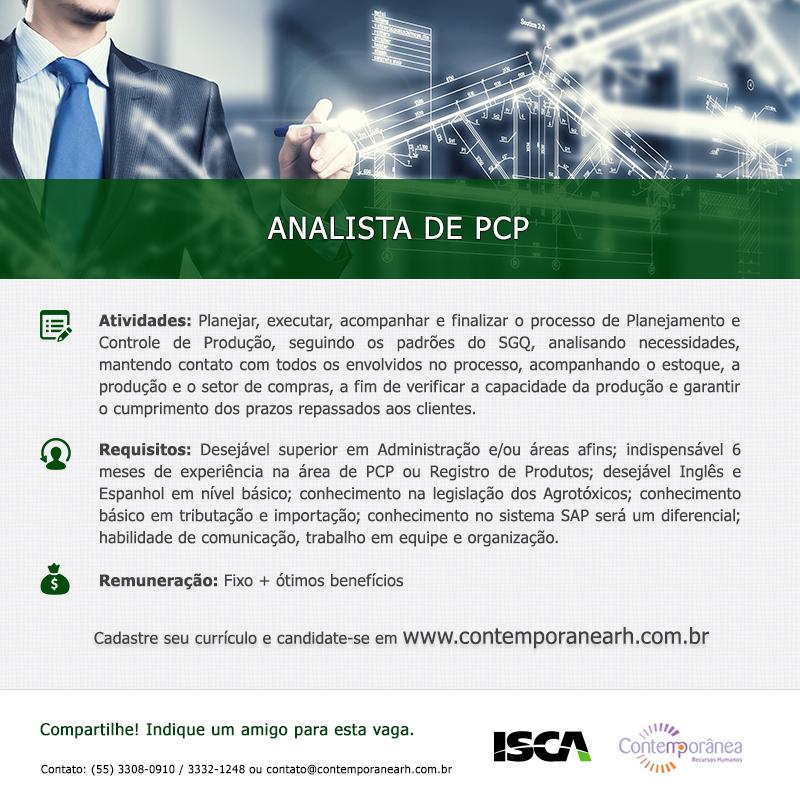 Analista de PCP