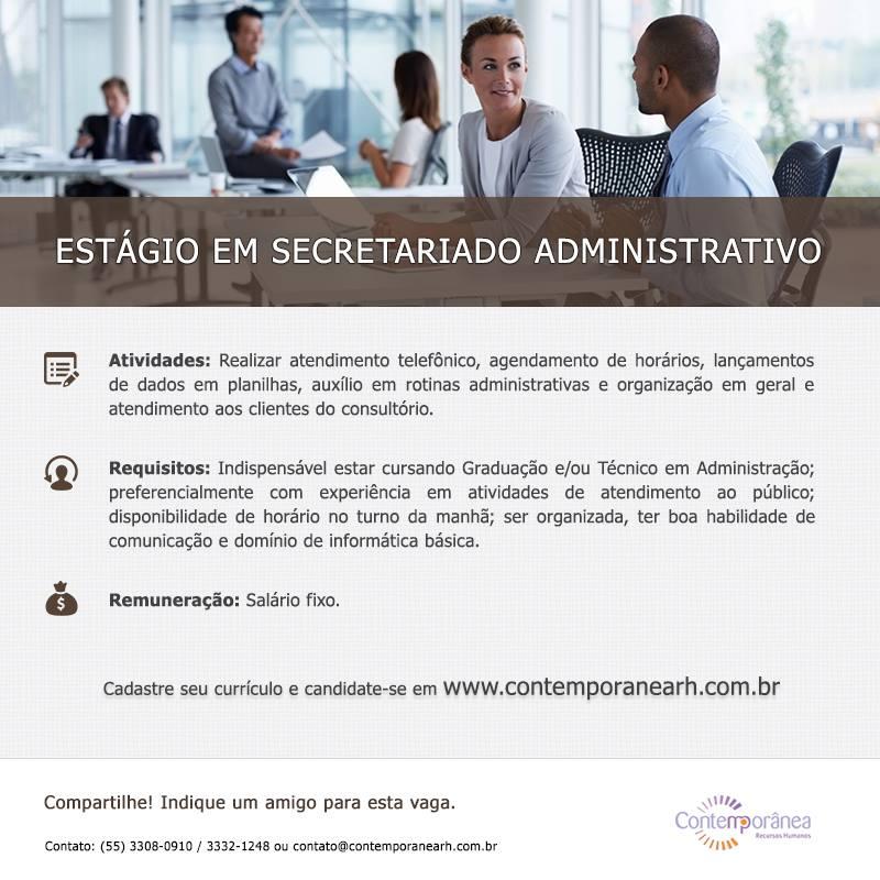 Estágio em Secretariado Administrativo