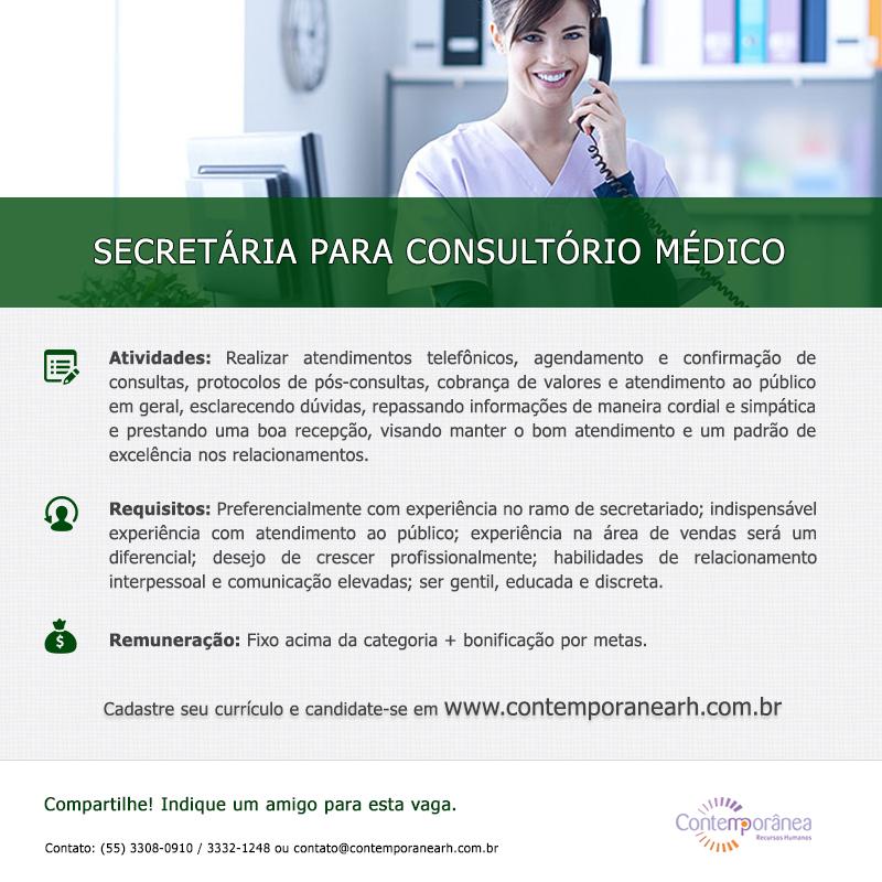 Secretária para Consultório Médico