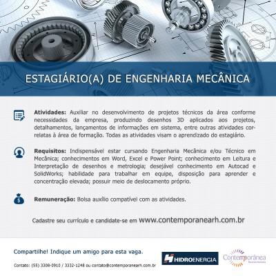 Estagiário(a) de Engenharia Mecânica