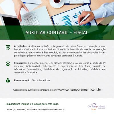 Auxiliar Contábil - Fiscal
