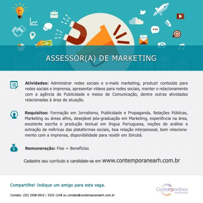 Assessor(a) de Marketing