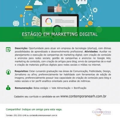 Estágio em Marketing Digital