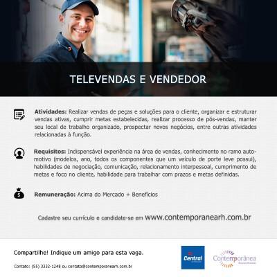 Vendedor e Televendas